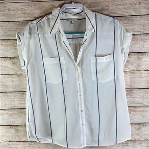 Lucky Brand Sleeveless Blouse Ties In Back